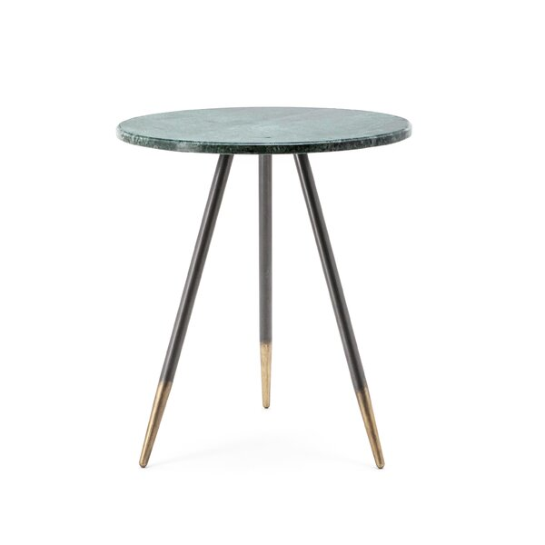 Mcentire Marble Top 3 Legs End Table by Everly Quinn Everly Quinn