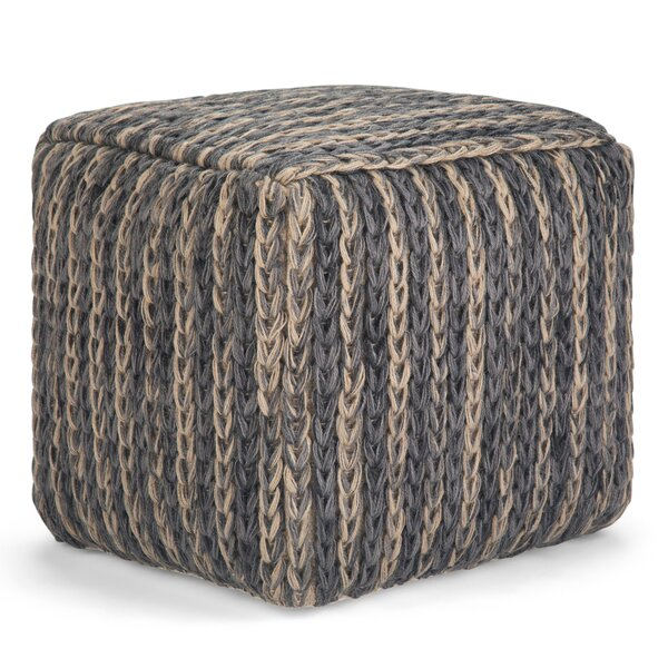 Tidwell Cube Pouf by Bungalow Rose