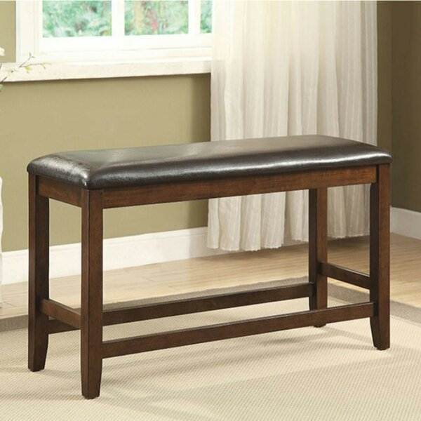 Cheever Counter Height Wood Bench by Loon Peak