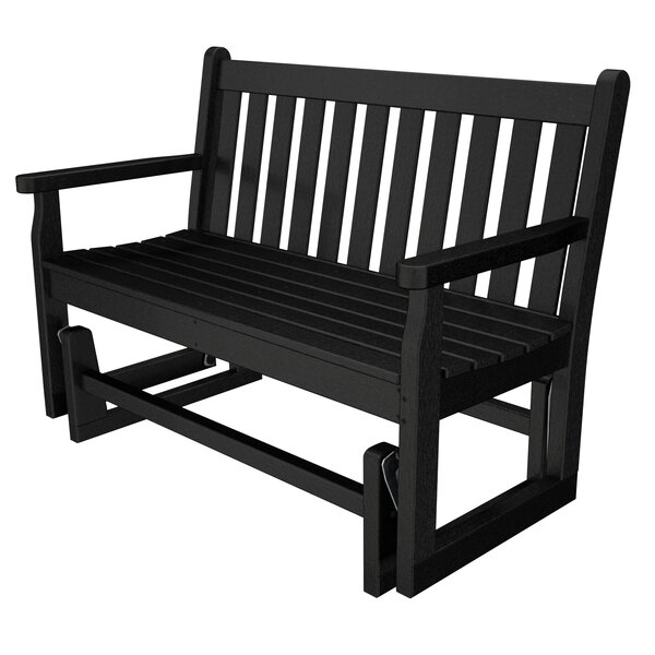 Traditional Garden Plastic Glider Bench by POLYWOOD®