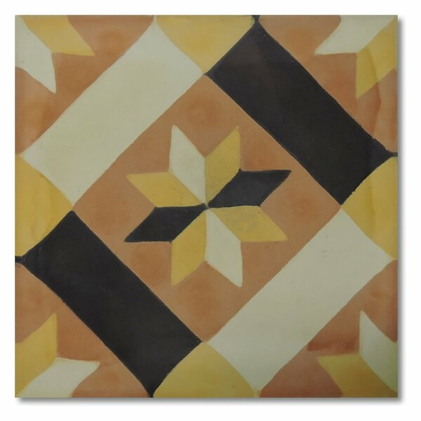 Kotoubia 8 x 8 Handmade Cement Tile in Multi-Color by Moroccan Mosaic