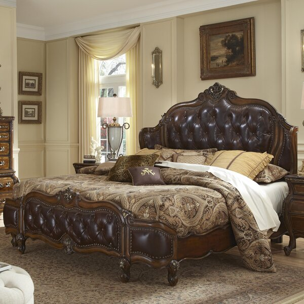 Lavelle Wing Mansion Upholstered Platform Bed by Michael Amini