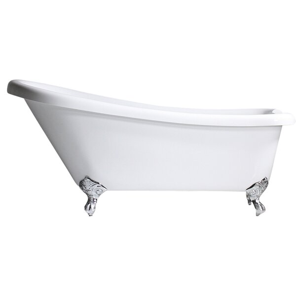 Hotel Acrylic 73 x 32 Freestanding Soaking Bathtub by Baths of Distinction