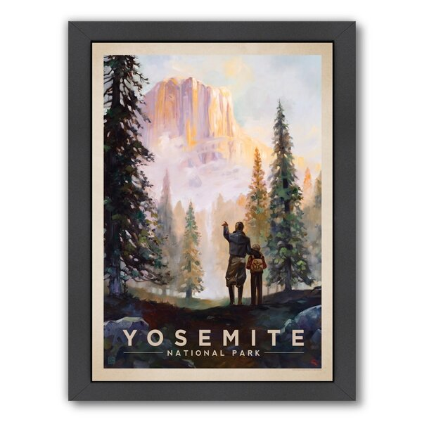 Yosemite National Park Framed Vintage Advertisement by East Urban Home