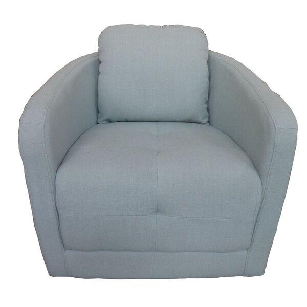Aveza Swivel Barrel Chair by Ivy Bronx