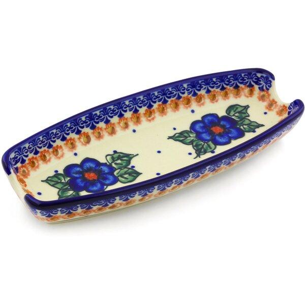 Greek Poppies Platter by Polmedia