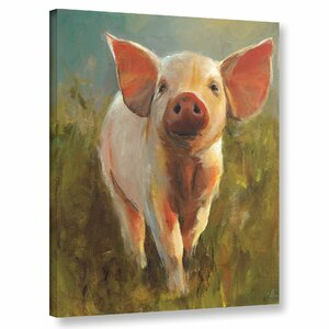 'Morning Pig' Painting Print on Canvas by August Grove