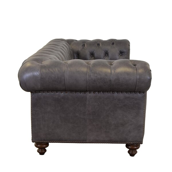 Newbury Genuine Leather Chesterfield 74