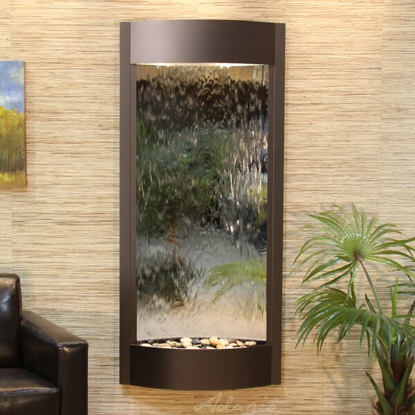 Pacifica Waters Natural Stone/Metal Wall Fountain by Adagio Fountains
