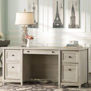 White Executive Desk With Drawers executive white desks you'll love | wayfair