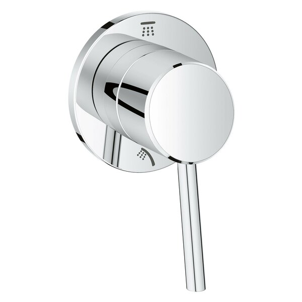 Concetto Single Handle 2-Way Diverter Shower Faucet Trim Only by Grohe
