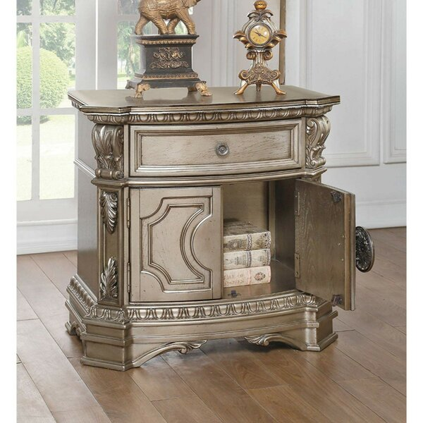 Swinehart Wood Top 1 Drawer Nightstand by Astoria Grand Astoria Grand