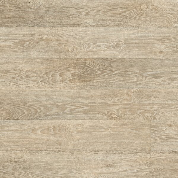 Restoration 6'' x 51'' x 12mm Oak Laminate Flooring in Antiqued by Mannington