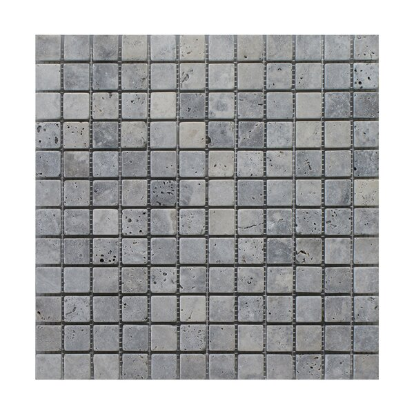 Silver Trevertine 1 x 1 Marble MosaicTile in Gray by Seven Seas
