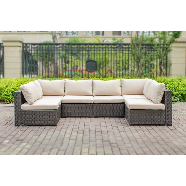 Alycia 6 Piece Sectional Set with Cushions by Ebern Designs