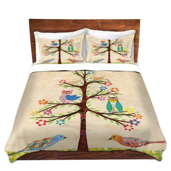 Owl Bird Tree I Duvet Cover Set