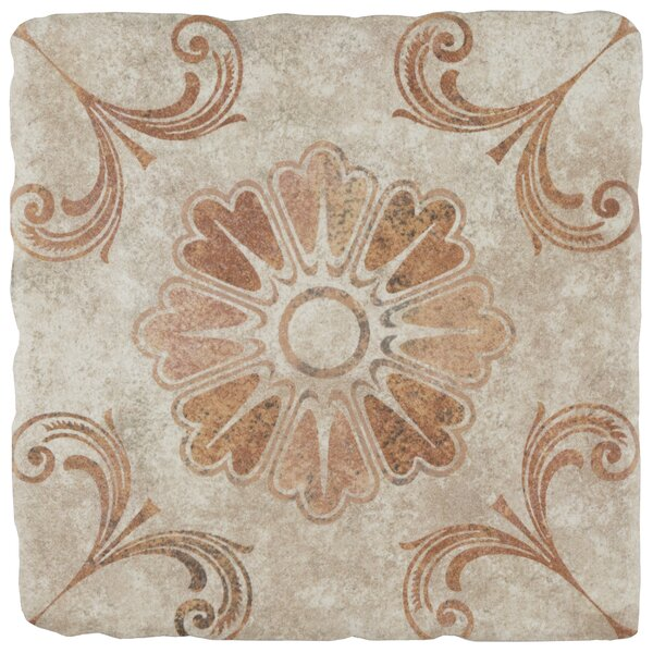 Diego 7.75 x 7.75 Ceramic Field Tile in Matte Brown by EliteTile