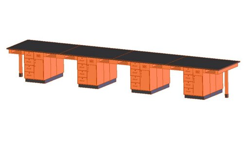 Sixteen Station Service Center Workstation by Diversified Woodcrafts