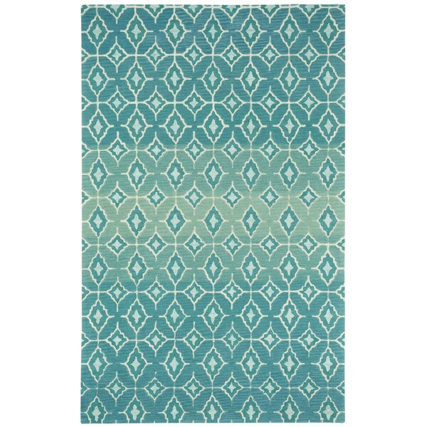 Rossio Azure Trellis Area Rug by Capel Rugs