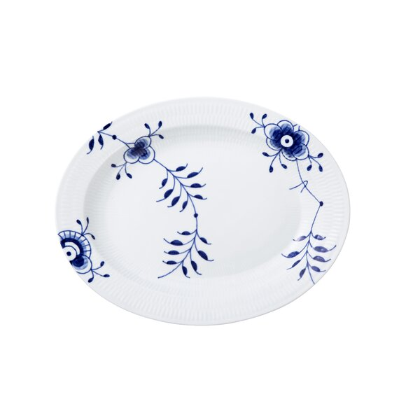 Blue Fluted Mega Oval Platter by Royal Copenhagen