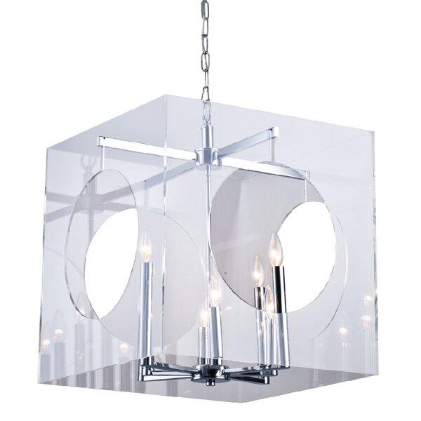 Litwin 8 - Light Unique / Statement Rectangle / Square Chandelier by Rosdorf Park Rosdorf Park