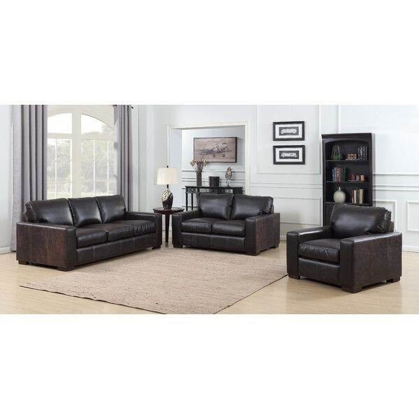 Priscila 3 Piece Leather Living Room Set by 17 Stories 17 Stories