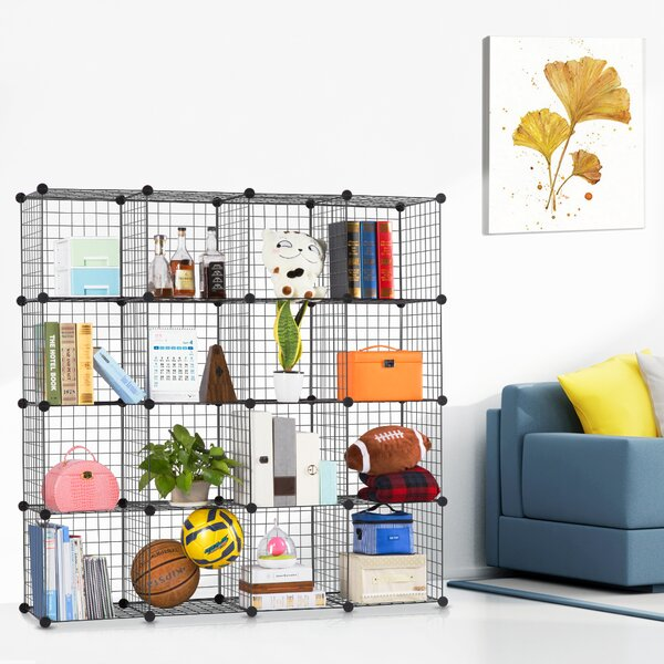 Fitzpatrick 6 Cube Corner Unit Bookcase by Rebrilliant