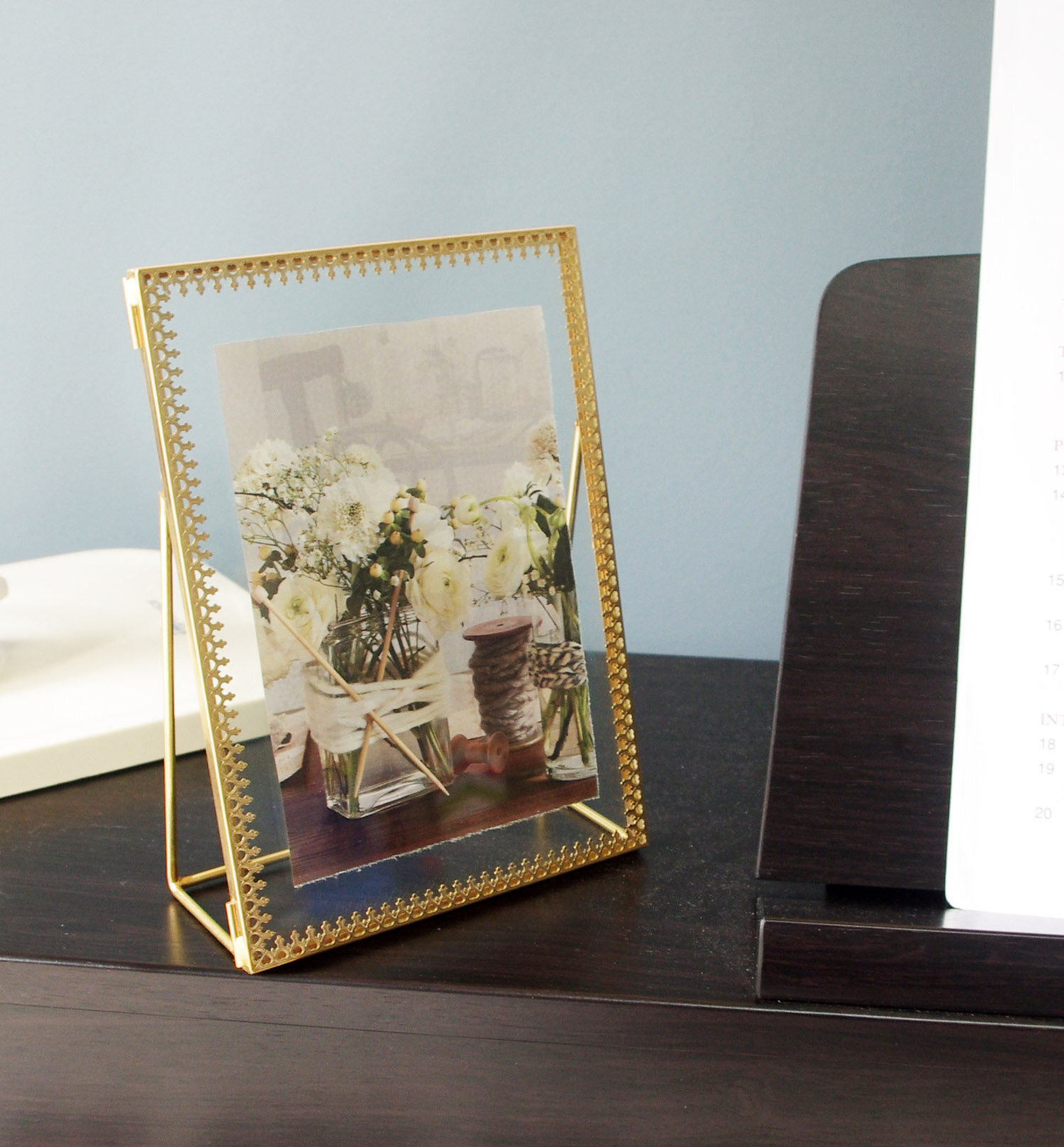 Brass Black Metal Clear Glass Picture Frame Photo Frame Wall Tabletop Decor