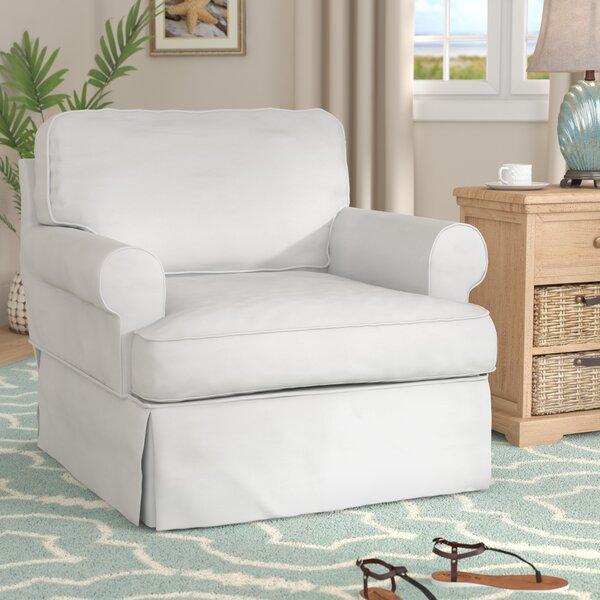 Coral Gables T-Cushion Armchair Slipcover by Beachcrest Home
