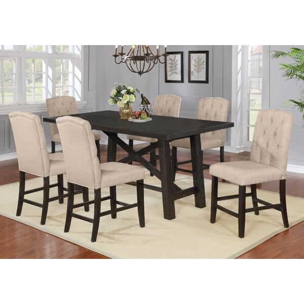Greggs Counter Height Solid Wood Dining Set by Gracie Oaks