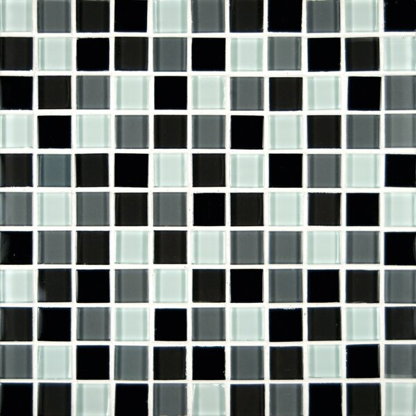 Crystallized 1'' x 1'' Glass Mosaic Tile in Black by MSI