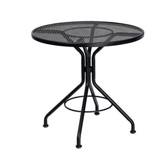 Big Save Mesh Top Contract Round Wrought Iron Dining Table By Woodard