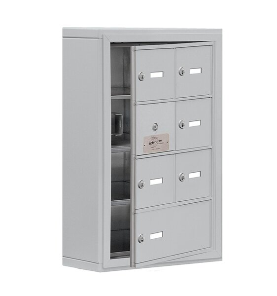 4 Tier 2 Wide EmpLoyee Locker by Salsbury Industries
