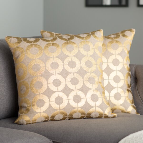 Bailey Linen Throw Pillow (Set of 2) by Mercury Row