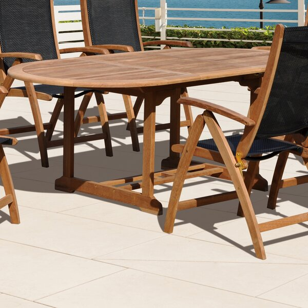 Aguinaldo Extendable Teak Dining Table by Ivy Bronx