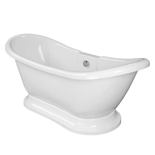 Dorothy 69 x 28 Freestanding Soaking Bathtub by Maykke