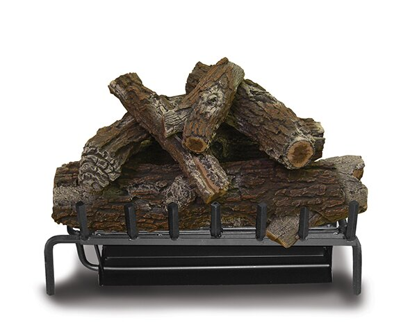 Linndale Dual Fuel Fireplace Log Set by Charlton Home