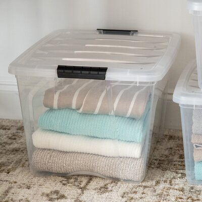"""Stack & Pull Plastic Tubs & Tote IRIS USA, Inc. Pack Size (Buy More, Save More!): 1 Bin, Size: 10.5"""""""" H x 14.38"""""""" W x 18.75"""""""" L, Capacity: 32 QTS -  150210"""