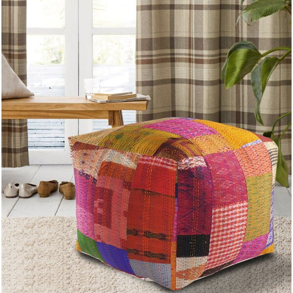 Seychella Kantha Pouf by World Menagerie