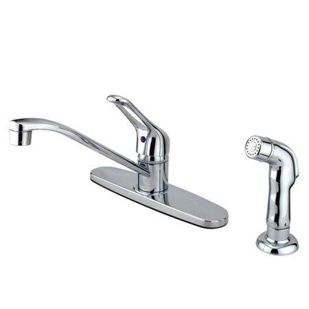 Wyndham Single Handle Kitchen Faucet by Kingston Brass