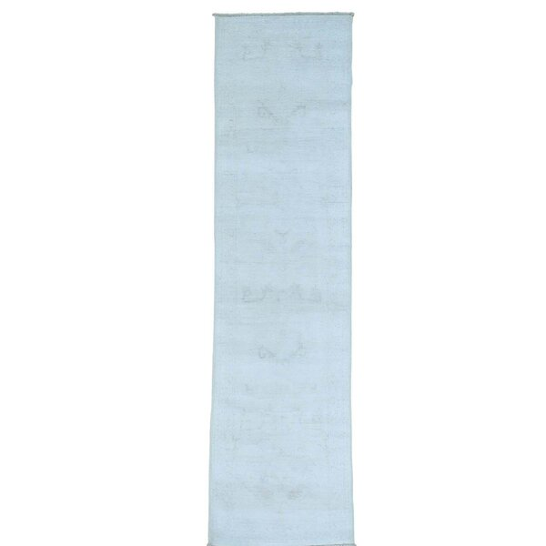 One-of-a-Kind Lausanne Hand-Knotted Light Blue Area Rug by Canora Grey