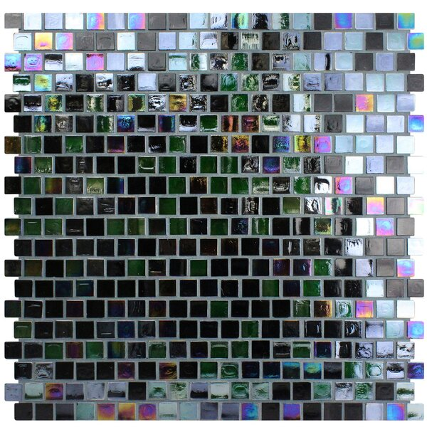 Opal 0.63 x 0.63 Glass Mosaic Tile in Cosmos by Kellani
