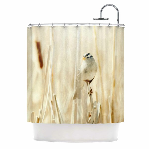 Bird in Ethereal Light Shower Curtain by East Urban Home