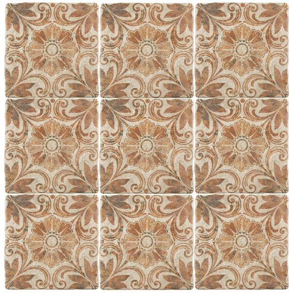 Diego 7.75 x 7.75 Ceramic Field Tile in Matte Brown by EliteTile