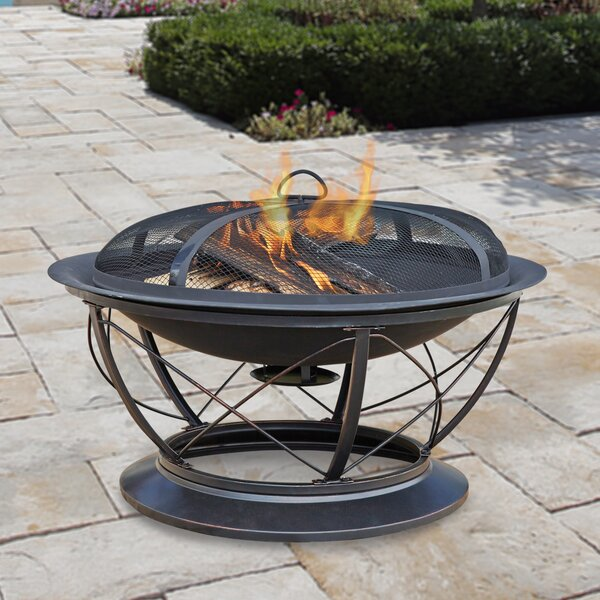 Palmetto Steel Wood Fire Pit by Pleasant Hearth