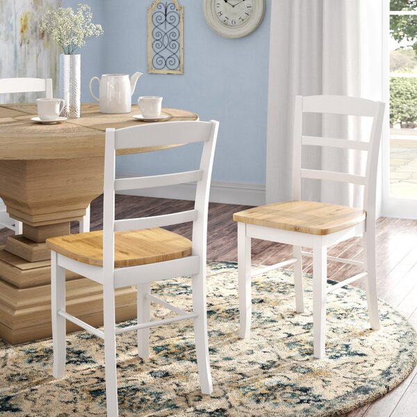 Amazing Brianne Solid Wood Dining Chair (Set Of 2) By August Grove Cool