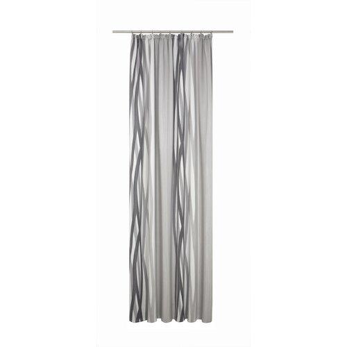 Brecken Pencil Pleat Blackout Thermal Single Curtain Corrigan Studio Colour: Grey, Size: 255 x 145cm