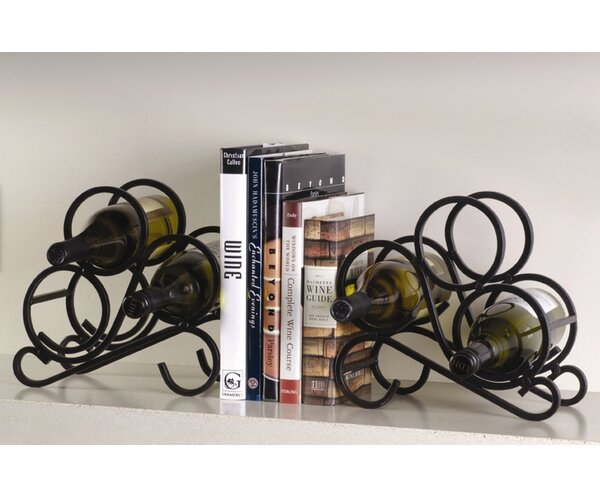 Speedway 2 Piece 6 Bottle Tabletop Wine Rack Set by Charlton Home