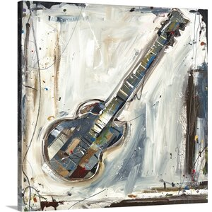 'Imprint Guitar' by Kelsey Hochstatter Painting Print on Canvas by Canvas On Demand