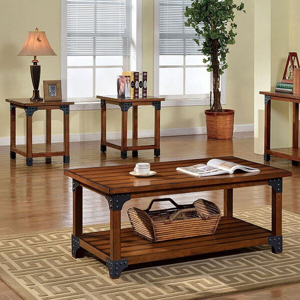 Doherty 3 Piece Coffee Table Set by Millwood Pines
